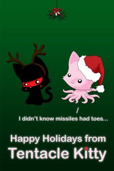 Happy Holidays from Tentacle Kitty 2011 by TentacleKitty