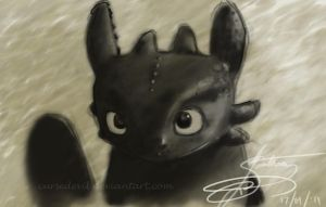 Toothless Sketch by curseDevil