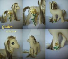 My little Pony Custom G1 Golden Lilium by BerryMouse