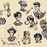 Don't Starve Character Doodles by SigmaElain