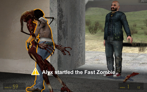 Alyx Startled The Fast Zombie by Flyntendo