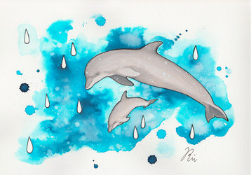 Dolphin Dance by sofierimmer