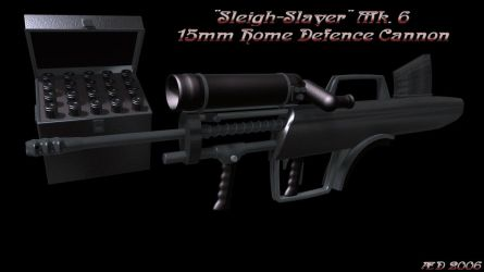 Sleigh-Slayer Mk6 15mm Home Defence Cannon by aestheticdemon