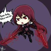 Chibi Scathach by Valignar-Malrune