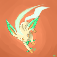 Leafeon- Leaf Blade by BluuKiss