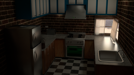 A small kitchen by gagsays
