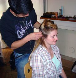 making of- Gaia's haircut by leclandelombre