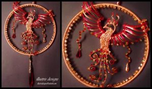 Suncatcher with Phoenix by illustrisdesigns