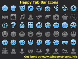 Happy Tab Bar Icons by shockvideo