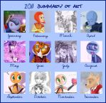 2011 art summery by Orangeandbluecream