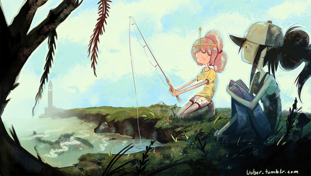 Marceline and PB fishing by jeremyruihley