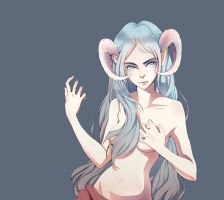 The Girl with the Horns by sonichouse