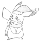 Christmas Pikachu by lossetta932