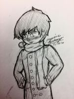 Polydeuces Winter Sketch by WaterElement33