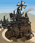 Desert outpost (animated) by SquidEmpire