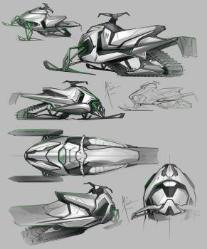 Snowmobile Sketches 2 by Hydrothrax