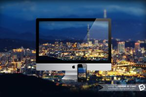 Taipei Tilt-Shift Wallpaper by Chadski51