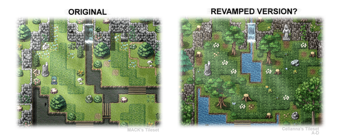 RPGVX - New Map Tiles by yesbutterfly