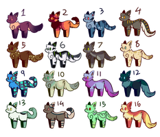 .:Free Cat Adopts! CLOSED:. by LovableLeafeon