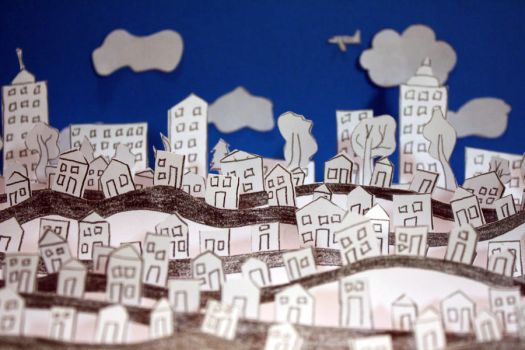 Paper City II by blondesRsnart