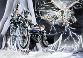 Arthas and Sindragosa by ifrit-slayer