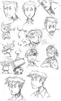 page of sketches by basalt