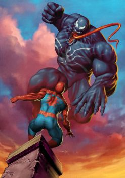 Spiderman vs Venom - updated by Valzonline