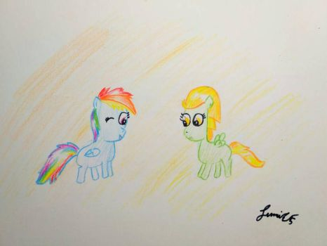 filly rainbow dash and lightning dust  by Sumi-mlp25