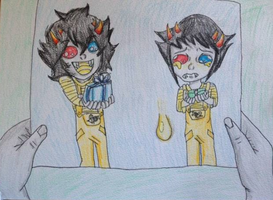 Sollux and Mituna by Icestromflash