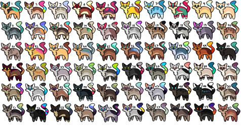 60 Adoptables*OPEN* by xXWF-adoptablesXx