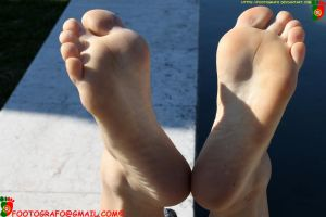 Just A Nice Pair Of Sideways Deviated Soles by Footografo