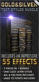 Gold and Silver Bundle - Text Styles by ivelt