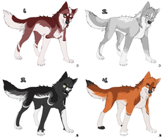 Canine adopts 6 - CLOSED by xAkilax