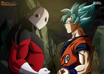 Clash of Gods- Goku VS Jiren by Koku78