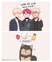 BTS: WHAT YEONTAN THINKS OF THE HAIR COLORS by Randomsplashes