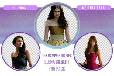 The Vampire Diaries Elena Gilbert PNG Pack by Weirdly-PNGS