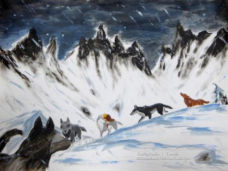 ZK: Wolves - Snow In The Mountains by NekoHimeAnny