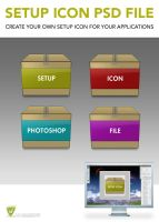 SETUP ICON PSD FILE by LeMarquis