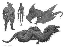 Creature Design dump 2 by Kevcatalan