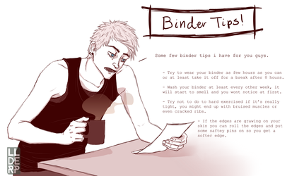 FTM comic: Binder Tips by LLDerP