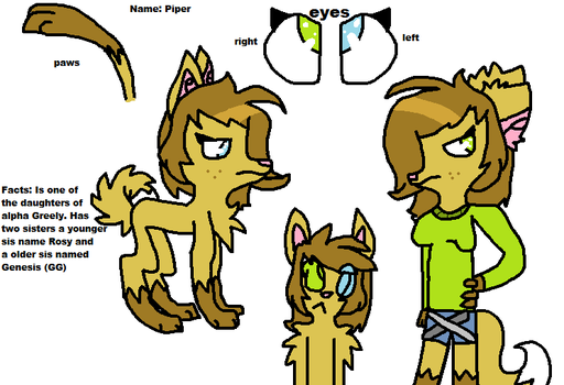 Piper (my fursona) by CalicoTrash