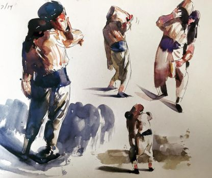 Pirates in watercolor by Alex Bodnar by Taurine75