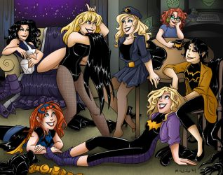 Birds of Prey and Batgirls by msciuto