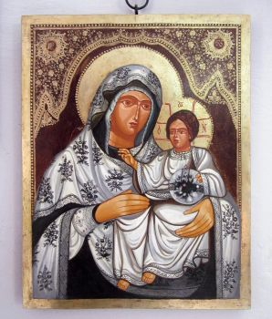 Mary and baby Jesus by GalleryZograf
