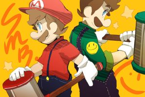 Mario and Luigi. by Uroad7 by Uroad7
