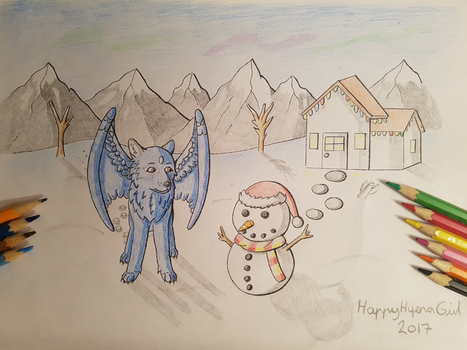 The Wolf And The Snowman by HappyHyenaGirl