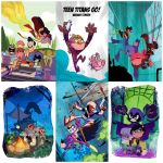 Teen Titans Go! variant covers by cheeks-74