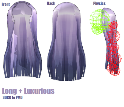 MMD -Long + luxurious.2 -DL by MMDFakewings18