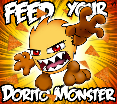 Feed your Dorito Monster by vannickArtz
