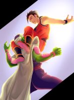 Think fast, Mr. Piccolo! by MuffinMonstah